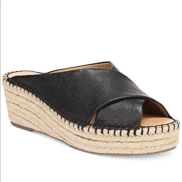 06b9a761431 Polina Espadrille Platform Wide Wedge Sandals NWT